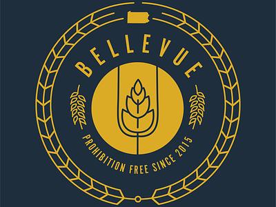 Bellevue prohibition free logo t-shirt