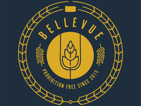 Bellevue prohibition free logo t-shirt