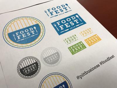 Pitt Business Food Fest pittsburgh logo circle