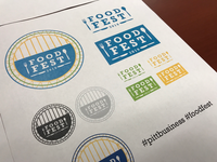 Pitt Business Food Fest pittsburgh logo circle