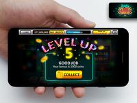 Double Win Slots App Mobile UX UI Level Up