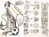 Jungle Goals Art Preliminary sketch