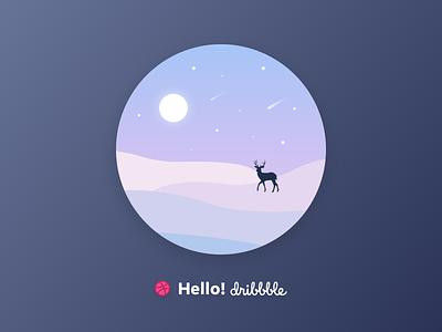 Hello, Dribbble! debut sketch hello dribbble first shot illustration