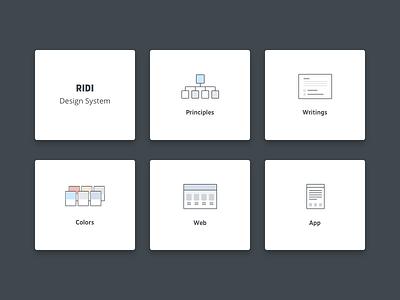 RIDI Design System site design iconset ridi design system