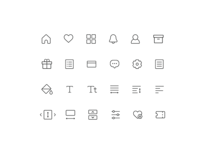 RIDI Story - Icon set