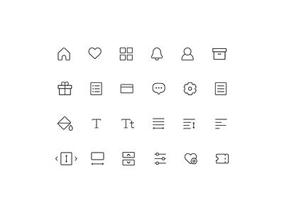 RIDI Story - Icon set icon lineicons iconsets illustration design
