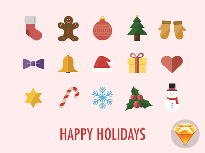 Happy Holidays Icons