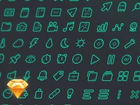Free Sketch Icon Set
