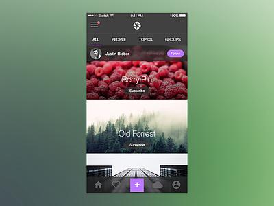 Photo Splash (UI Kit) for iOS sketchapp sketch ui ux user interface user experience app ios iphone ui kit ios 8 kit