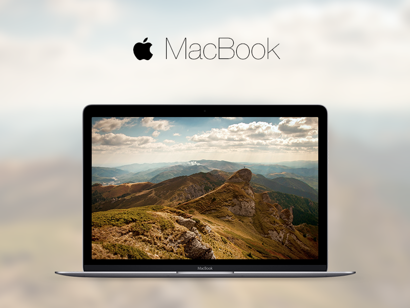 MacBook 2015 (.sketch attached) sketch sketchapp free freebie file resource apple mac macbook mockup