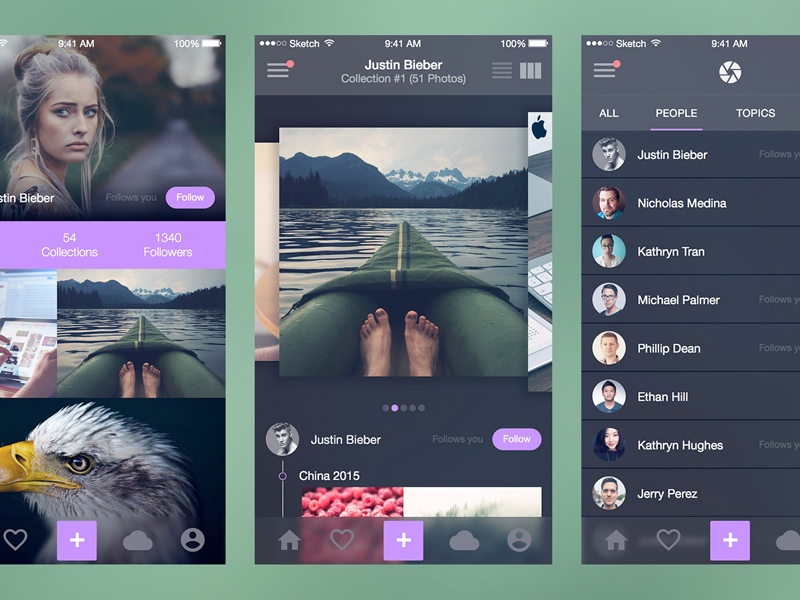 Photo Splash (Full iOS UI Kit) for Sketch sketch sketchapp free freebie file resource ux ui user experience user interface iphone mockup