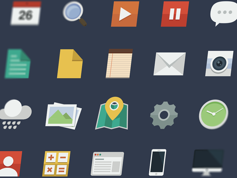 Free Flat Icon Set (Sketch) icon icons icon set ui ux resource file freebie free sketchapp sketch