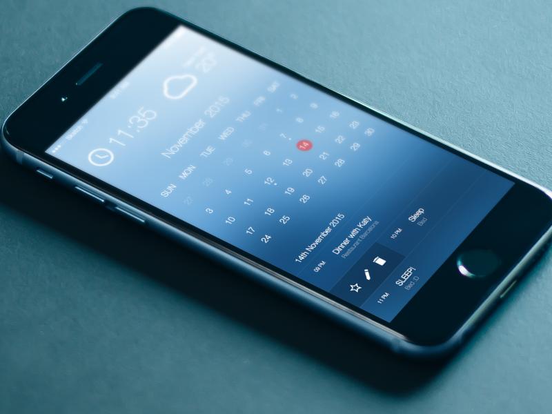 Beautiful Calendar UI/UX (iOS) ios iphone user interface user experience ui ux resource file freebie free sketchapp sketch