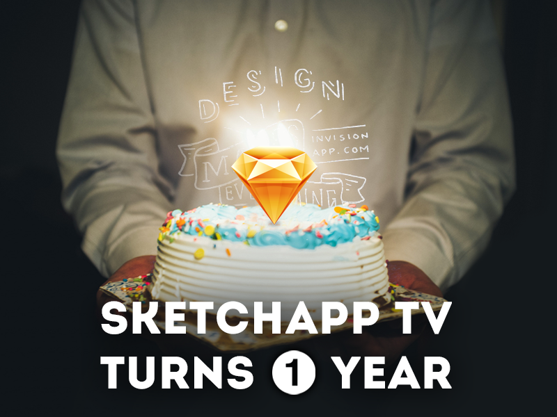 Sketchapp TV turns 1 year :) + Win InVision Pro 1 year free animation user interface user experience ui ux resource file freebie free sketchapp sketch