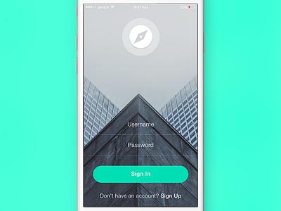 Login UI user interface user experience iphone ios app animation ui ux sketchapp sketch freebie free