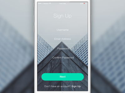 Sign Up (iOS) user interface user experience iphone ios app animation ui ux sketchapp sketch freebie free