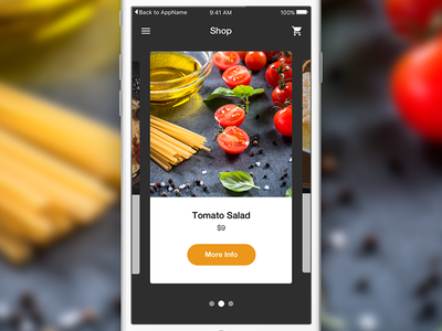 Restaurant iOS App application app ios sketchapp sketch freebie free ux ui