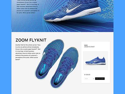 Nike Website Redesign - Part II user interface user experience iphone ios app animation ui ux sketchapp sketch freebie free