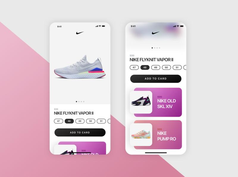 Nike Shop UI Concept (Sketch Freebie) free freebie user interface sketchapp sketch ux ui