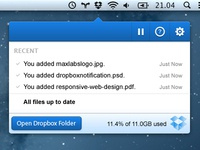 Dropbox for Mac OS X - Notification Redesign