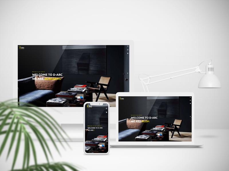 Interior Design website web ux ui design
