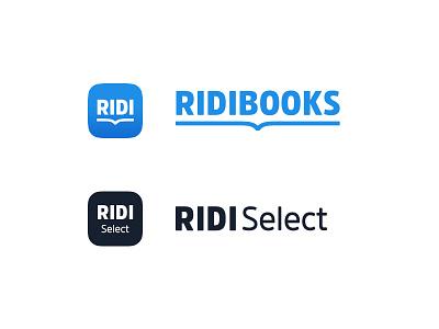RIDI Brand Identity ui typography product app icon identity books logo font branding