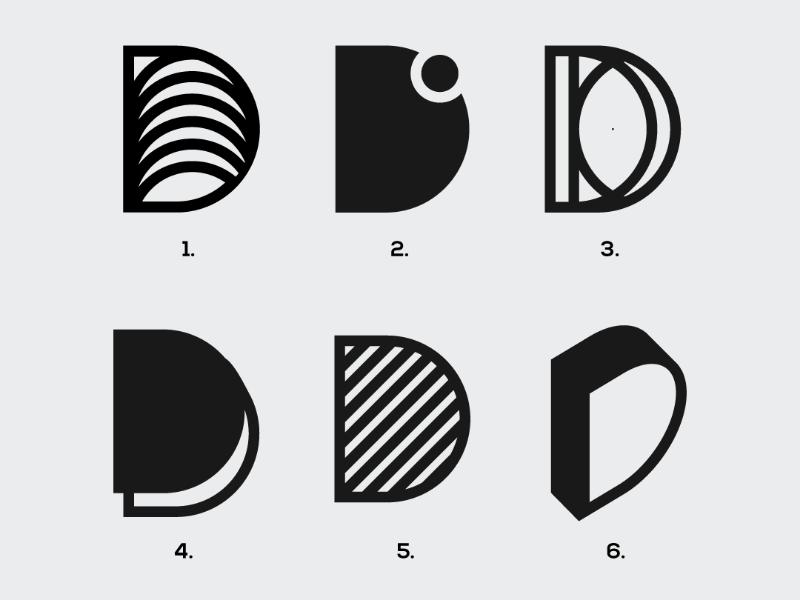 Letter 'D' Exploration   visual designer   logotype   logos   logo inspiration   logo designer   logo design   logo letter d logo design   letter d  identity designer brand identity designer