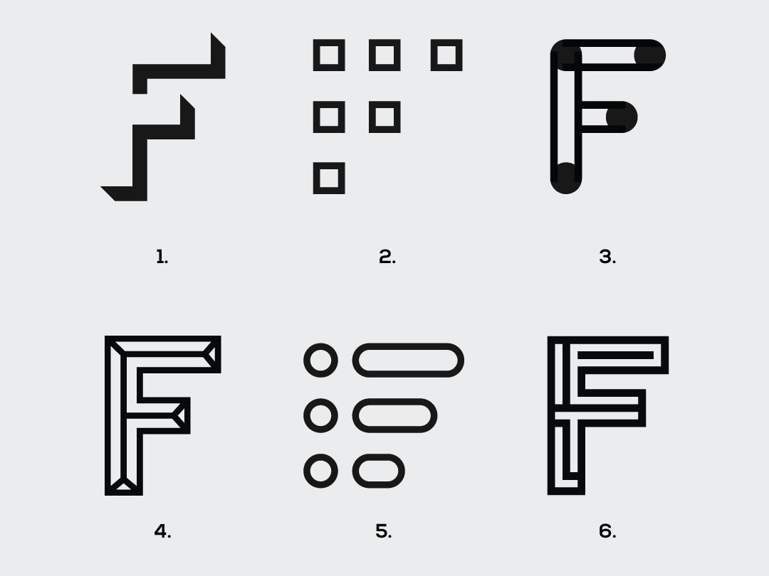 "Letter ""F"" exploration logotype logomark visual identity designer branding designer identity designer brand identity designer brand identity graphics designer logo designer logo design logos branding"