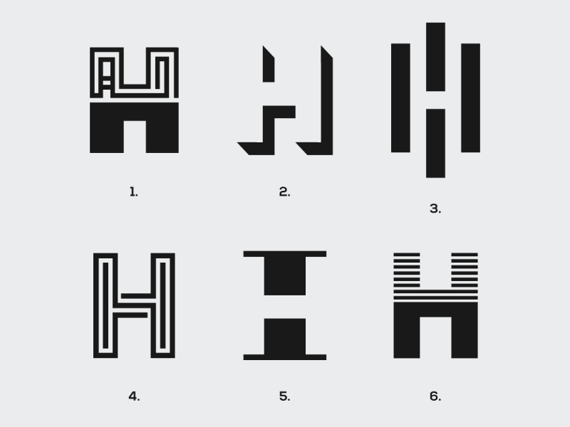 Letter 'H' exploration logotype responsive logomark visual identity designer branding designer identity designer brand identity designer brand identity graphics designer logo designer logo design logos branding