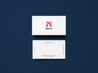 Business Card for Norm.