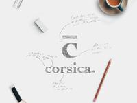 Logo sketch for Corsica