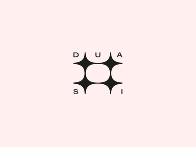 DUA SI - Private Residence Branding / Logotype-Symbol Design WIP typography wordmark harmony zen modern minimal symbol logotype design identity branding home living space star connection double residence