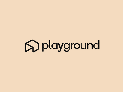 Playground Combination Logotype from Archives design symbol logotype typography clean modern minimal branding identity digital button house ground logo play playground