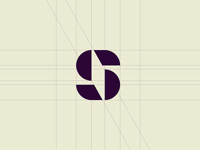 S Symbol Mark from Branding Process logo modern agency branding minimal typography identity logotype split edge shape mark s symbol