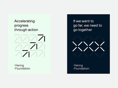 Hering Foundation Identity System Exploration / Branding symbol branding typography logotype wordmark design modern minimal geometric system line arrow heart logo structure pattern identity