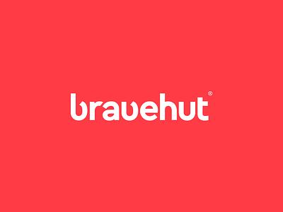 Bravehut Digital Agency Logo / Wordmark bold curve hut brave b logo mark wordmak agency
