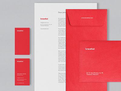 Bravehut Identity / Branding / Corporate Id digital wordmark logo red agency bravehut identity