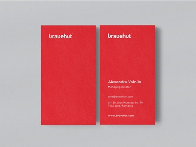 Bravehut Business Cards / Idenitity / Branding