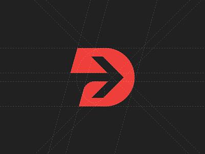Prodigitas Digital Marketing Agency Logotype Icon forward arrow d icon modern logo p marketing digital prodigitas