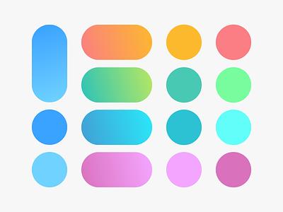 SubstanceAbuse Gradients / Colors / Palette shade blue secondary primary palette swatch color gradient