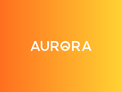AURORA Logotype Wordmark / Sunrise / Candles
