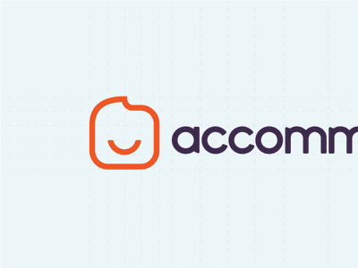 Accommodation.co.uk Final Logotype mascot happy icon symbol wordmark design logotype accommodation