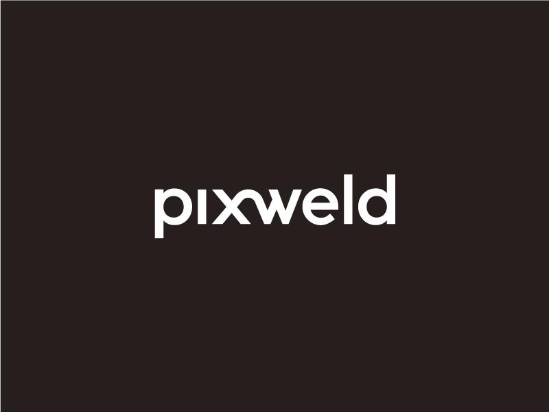 Pixweld Logotype Wordmark architecture 3d minimal mark logo logotype wordmark pixweld