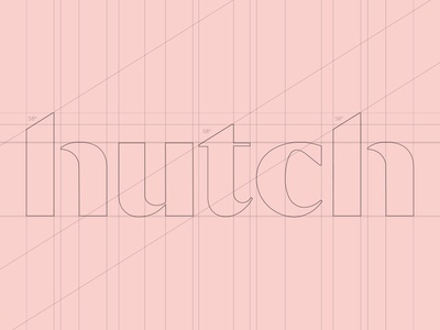 Hutch Logotype Wordmark / Symbol Architecture