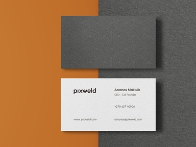 Pixweld Print Identity / Business Cards
