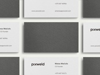 Pixweld Business Cards / Debossing / Letterpress / Print