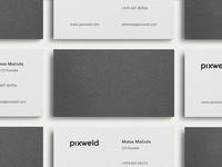 Pixweld Business Cards / Debossing / Letterpress / Print