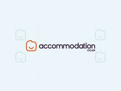 Accommodation.co.uk Logotype Wordmark / Identity / Symbol / Icon logotype logo wordmark happy smile icon symbol accommodation