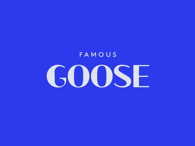 Famous Goose Wordmark Label Design