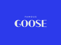 Famous Goose Wordmark Label Design